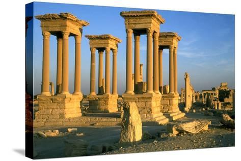 The Tetrapylon on the Colonnaded Central Street--Stretched Canvas Print