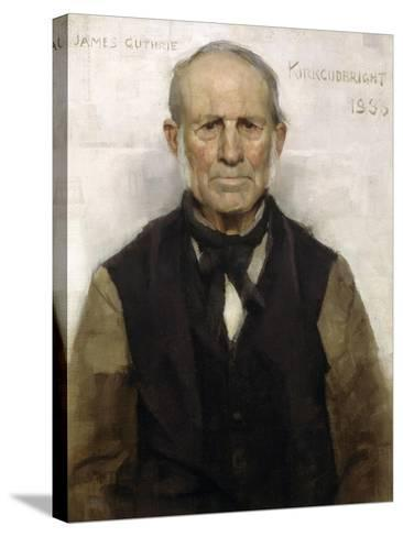 Old Willie - the Village Worthy, 1886-Sir James Guthrie-Stretched Canvas Print