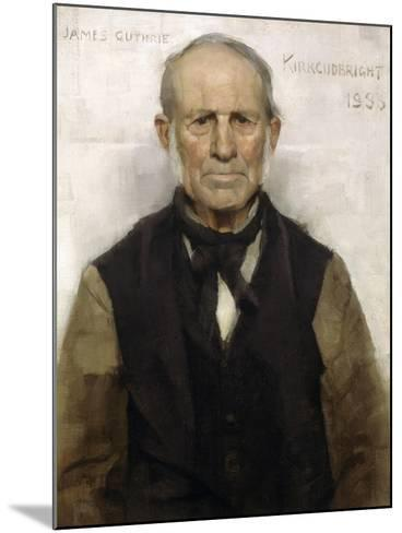 Old Willie - the Village Worthy, 1886-Sir James Guthrie-Mounted Giclee Print