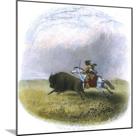 Buffalo Hunt, Engraved by Tilman and Sons, 1853-Seth Eastman-Mounted Giclee Print