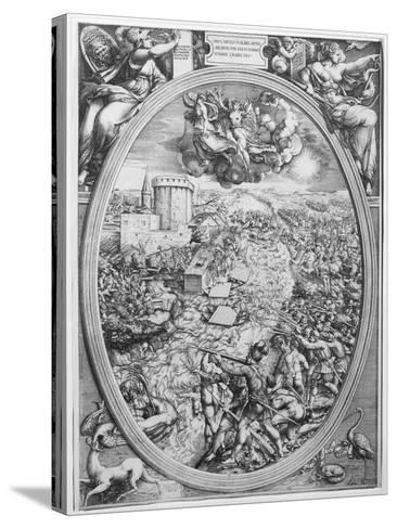 The Battle of Muehlberg, 24 April 1547, 1551-Enea Vico-Stretched Canvas Print