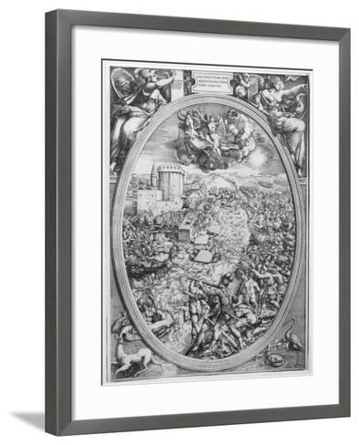The Battle of Muehlberg, 24 April 1547, 1551-Enea Vico-Framed Art Print