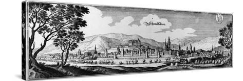 View of the Town of Schmalkalden, 1650-Matthaus, The Elder Merian-Stretched Canvas Print