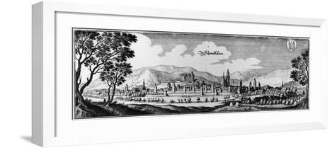 View of the Town of Schmalkalden, 1650-Matthaus, The Elder Merian-Framed Art Print