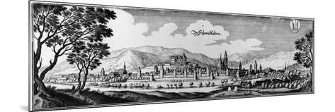 View of the Town of Schmalkalden, 1650-Matthaus, The Elder Merian-Mounted Giclee Print