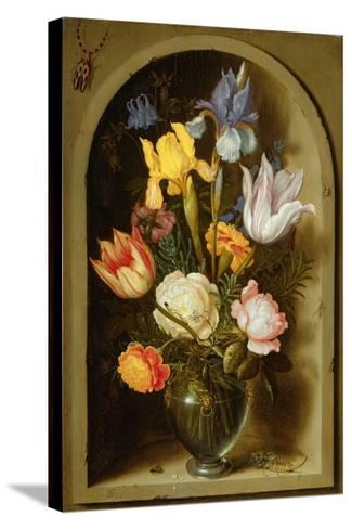 Still Life with Flowers and Insects-Ambrosius The Elder Bosschaert-Stretched Canvas Print