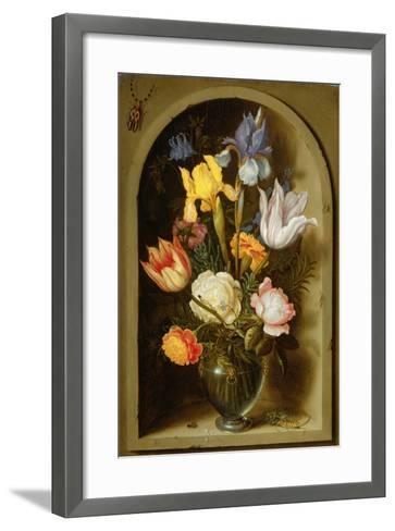 Still Life with Flowers and Insects-Ambrosius The Elder Bosschaert-Framed Art Print