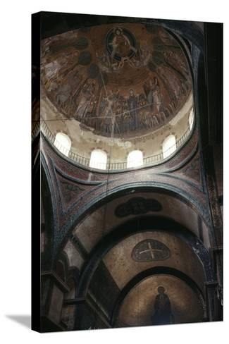 Dome and Apse, Church of Hagia Sophia--Stretched Canvas Print