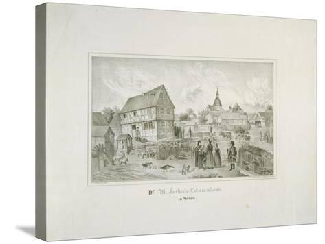 Martin Luther's Ancestral Home in Moehra, Printed by C. Rohlacher-C. Hertel-Stretched Canvas Print