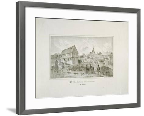 Martin Luther's Ancestral Home in Moehra, Printed by C. Rohlacher-C. Hertel-Framed Art Print