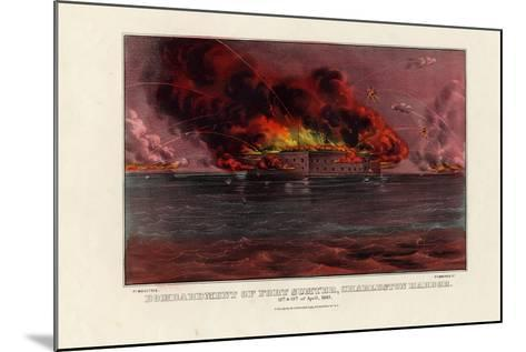 Bombardment of Fort Sumter, Charleston Harbor, 12th and 13th of April 1861, Pub. by Currier and…--Mounted Giclee Print