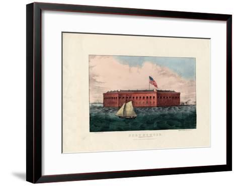 Fort Sumter: Charleston Harbor, S.C., Pub. by Currier and Ives, C.1861-Charles Parsons-Framed Art Print