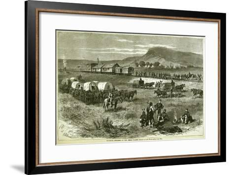 Railroad Building on the Great Plains, from 'Harper's Weekly', 17th July 1875-Alfred R^ Waud-Framed Art Print