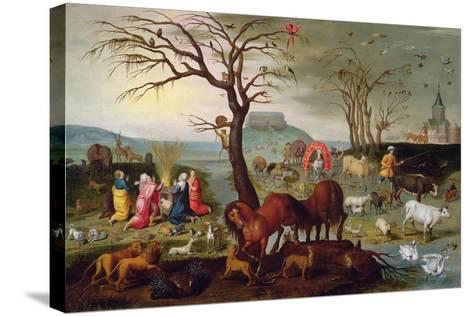 The Sacrifice of Noah-Jacob Bouttats-Stretched Canvas Print