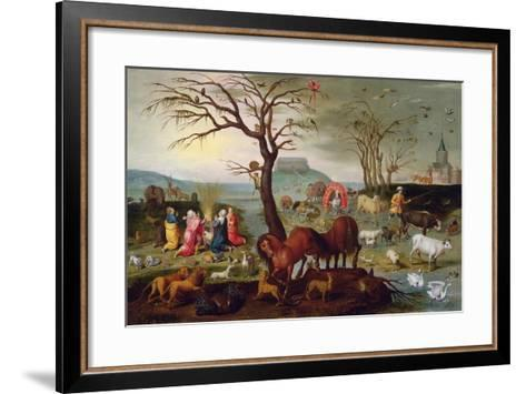 The Sacrifice of Noah-Jacob Bouttats-Framed Art Print