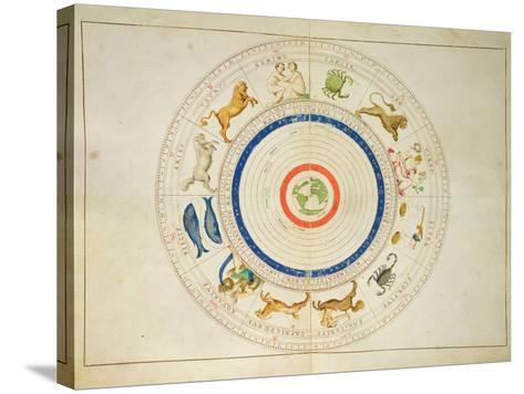 Zodiac Calendar, from an Atlas of the World in 33 Maps, Venice, 1st September 1553-Battista Agnese-Stretched Canvas Print