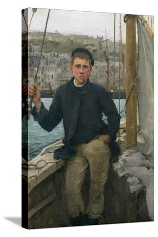 Our Jack, 1886-Henry Scott Tuke-Stretched Canvas Print