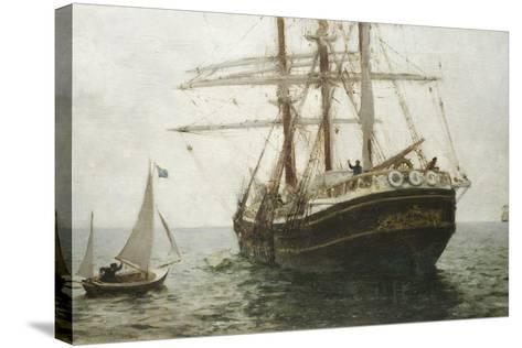 The Missionary Boat, 1894-Henry Scott Tuke-Stretched Canvas Print