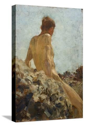 Nude Study-Henry Scott Tuke-Stretched Canvas Print