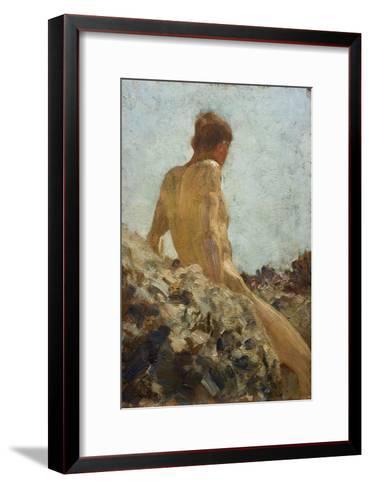 Nude Study-Henry Scott Tuke-Framed Art Print