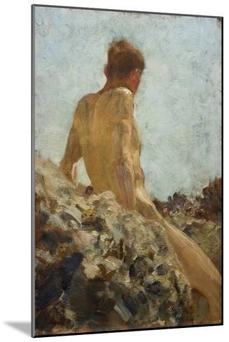 Nude Study-Henry Scott Tuke-Mounted Giclee Print