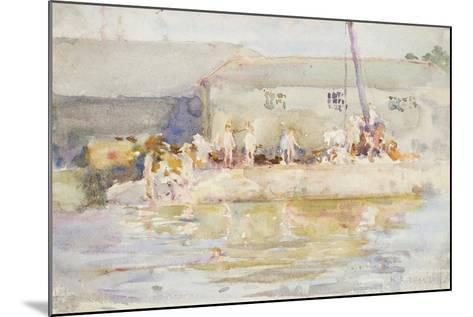Quay Scamps, 1896-Henry Scott Tuke-Mounted Giclee Print