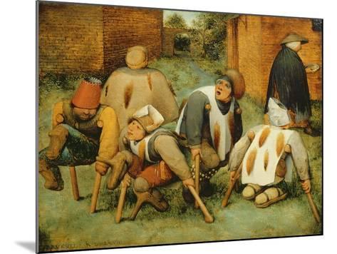 The Beggars, 1568-Pieter Bruegel the Elder-Mounted Giclee Print