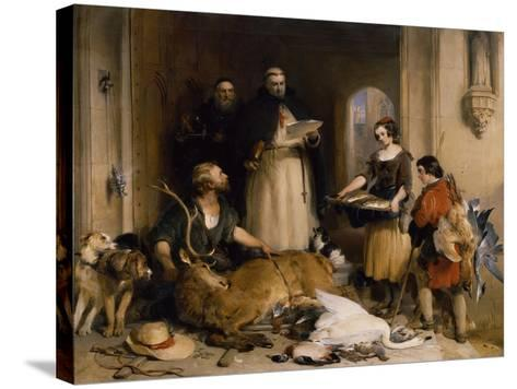 Scene in the Olden Time at Bolton Abbey, C.1834-Edwin Henry Landseer-Stretched Canvas Print