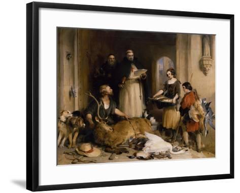 Scene in the Olden Time at Bolton Abbey, C.1834-Edwin Henry Landseer-Framed Art Print