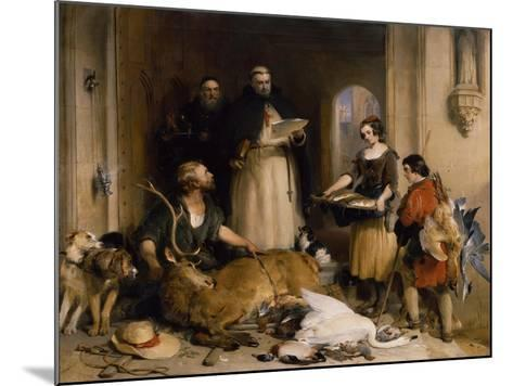 Scene in the Olden Time at Bolton Abbey, C.1834-Edwin Henry Landseer-Mounted Giclee Print