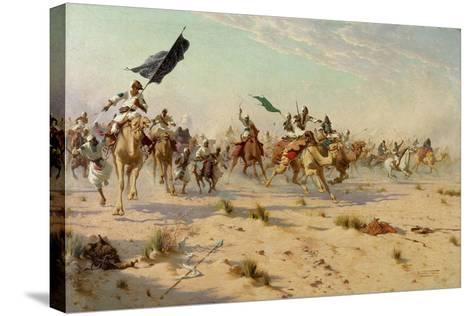 The Flight of the Khalifa at the Battle of Omduran, 1898-Robert George Talbot Kelly-Stretched Canvas Print