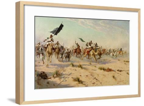 The Flight of the Khalifa at the Battle of Omduran, 1898-Robert George Talbot Kelly-Framed Art Print