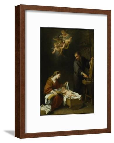 The Holy Family-Bartolome Esteban Murillo-Framed Art Print