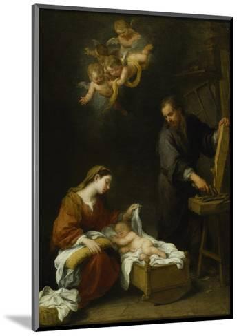 The Holy Family-Bartolome Esteban Murillo-Mounted Giclee Print