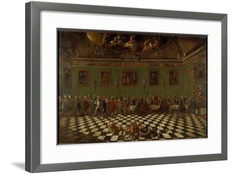 The English Club House at Florence- Thomas Patch and Pompeo Girolamo Batoni-Framed Art Print