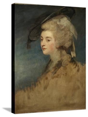 Study of Georgiana Spencer-Sir Joshua Reynolds-Stretched Canvas Print