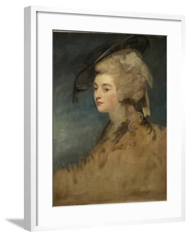 Study of Georgiana Spencer-Sir Joshua Reynolds-Framed Art Print
