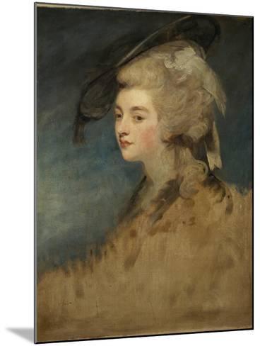 Study of Georgiana Spencer-Sir Joshua Reynolds-Mounted Giclee Print