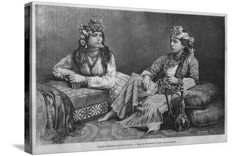 Muslim Women of Sidon, from 'La Syrie D'Aujourd'Hui. Voyages Dans La Phenicie, Le Liban Et La…--Stretched Canvas Print