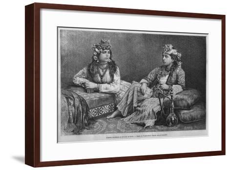 Muslim Women of Sidon, from 'La Syrie D'Aujourd'Hui. Voyages Dans La Phenicie, Le Liban Et La…--Framed Art Print