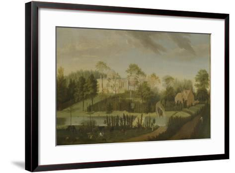 View of the Terrace Looking across the Canal to the Side of the Villa, Chiswick Villa-Pieter Andreas Rysbrack-Framed Art Print