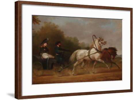 Tsar Alexander I Driving a Droschki-Alexander Ivanovich Sauerweid-Framed Art Print