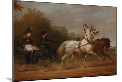 Tsar Alexander I Driving a Droschki-Alexander Ivanovich Sauerweid-Mounted Giclee Print