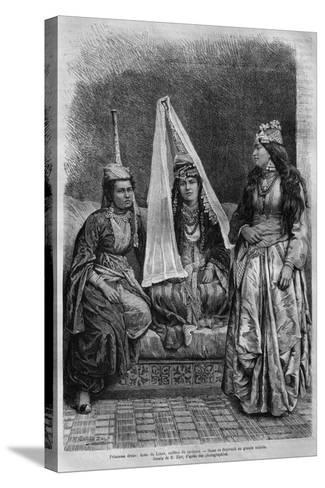 Druze Princess, from 'La Syrie D'Aujourd'Hui. Voyages Dans La Phenicie, Le Liban Et La Judee.?--Stretched Canvas Print