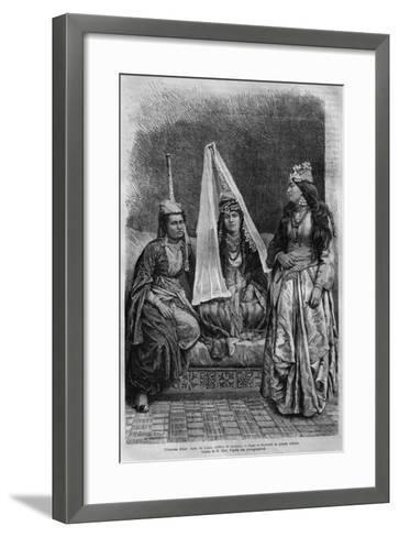 Druze Princess, from 'La Syrie D'Aujourd'Hui. Voyages Dans La Phenicie, Le Liban Et La Judee.?--Framed Art Print