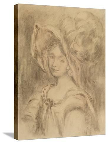Mme Dieterle in a Hat, C.1896-Pierre-Auguste Renoir-Stretched Canvas Print