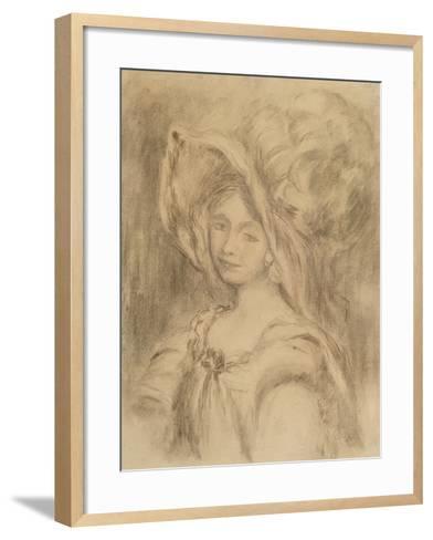 Mme Dieterle in a Hat, C.1896-Pierre-Auguste Renoir-Framed Art Print