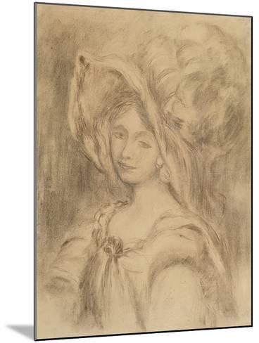 Mme Dieterle in a Hat, C.1896-Pierre-Auguste Renoir-Mounted Giclee Print
