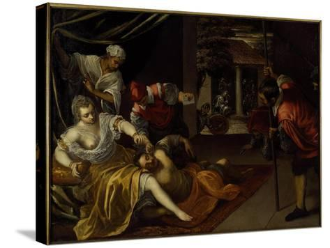 Samson and Delilah-Jacopo Robusti Tintoretto-Stretched Canvas Print