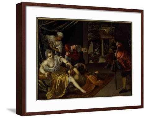 Samson and Delilah-Jacopo Robusti Tintoretto-Framed Art Print